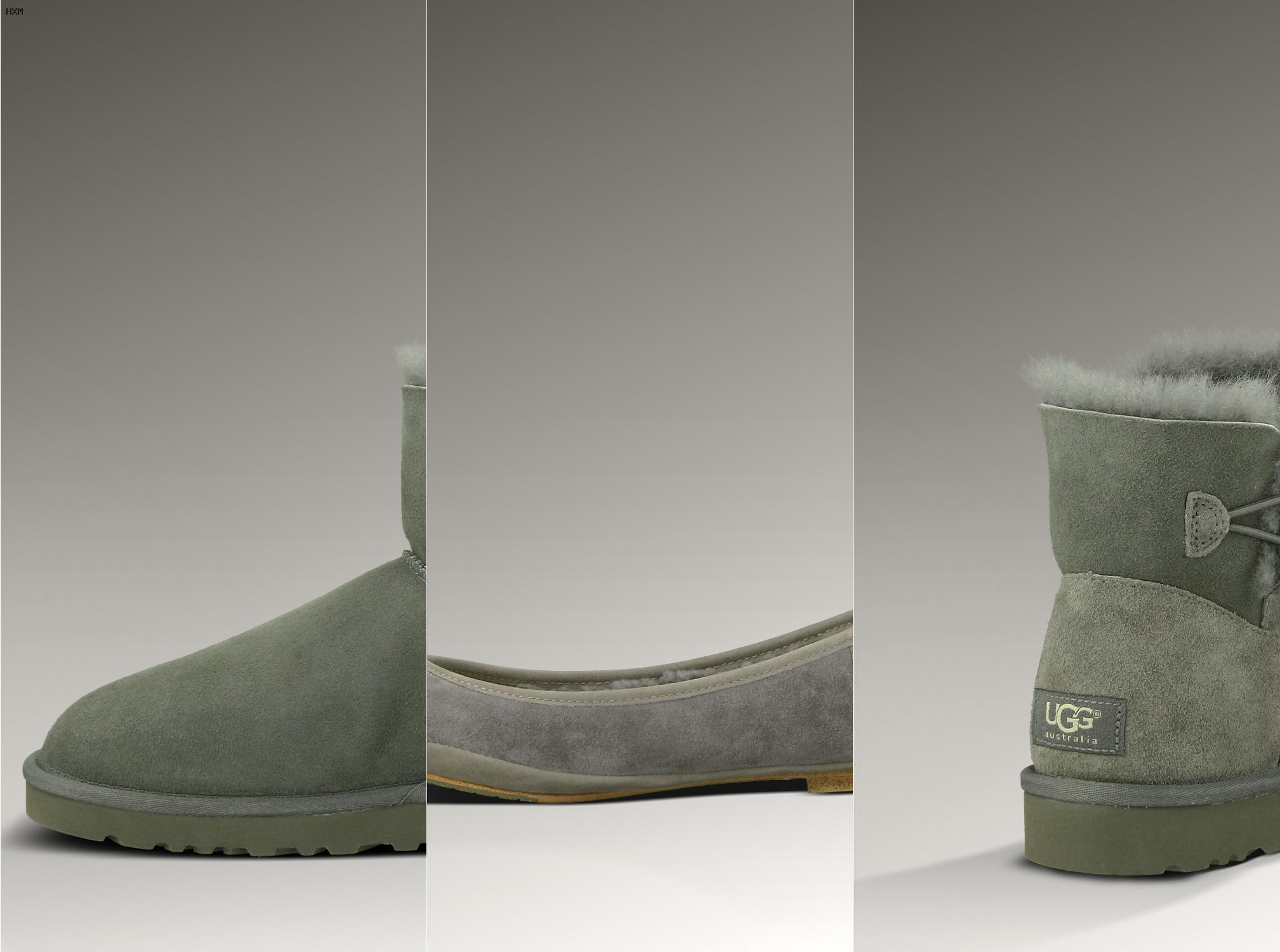 botas de mujer ugg planas de piel con forro de lana